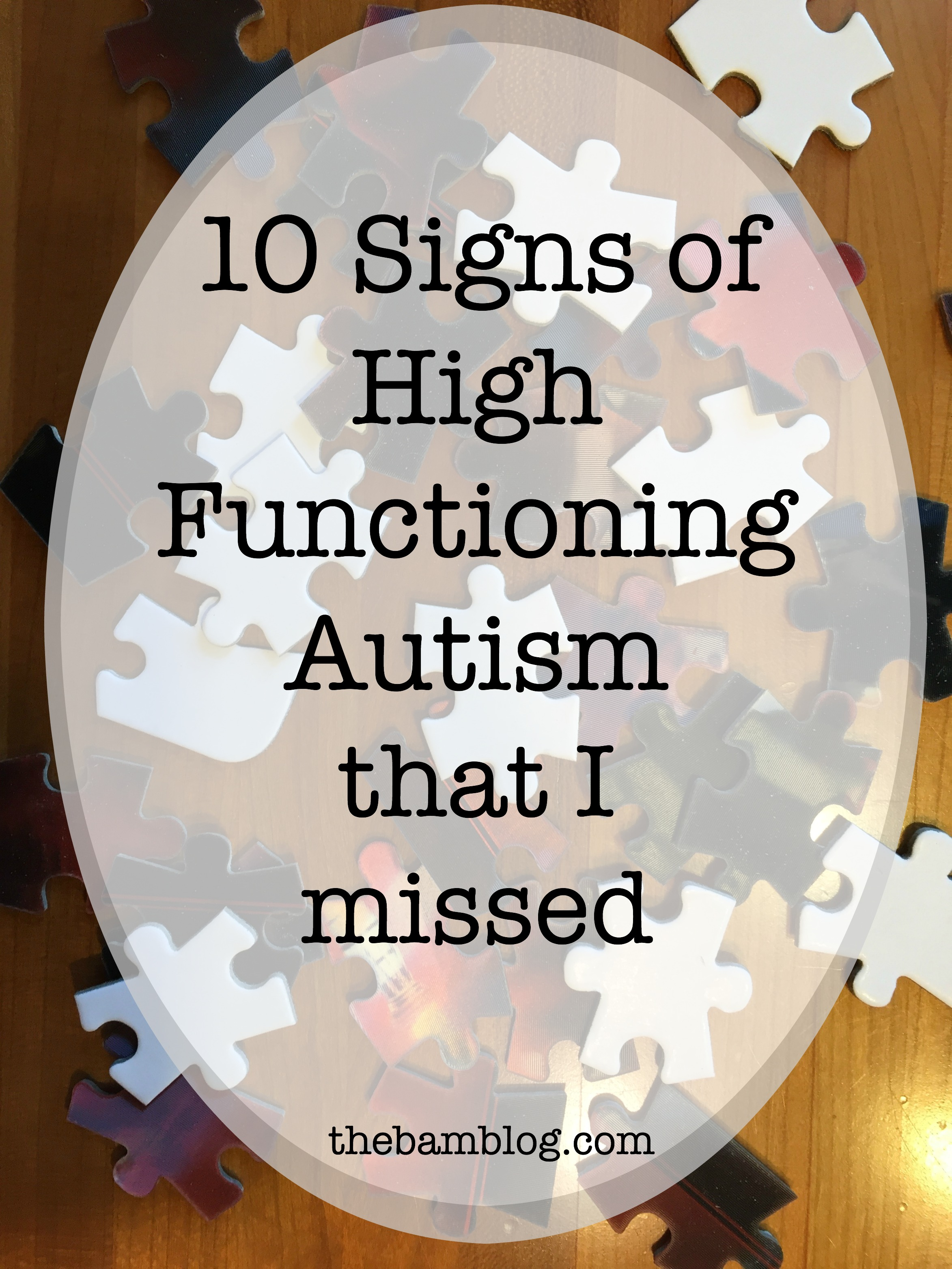 Signs of High Functioning Autism
